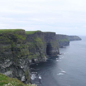The Cliffs of Moher, just 10 minutes away in Liscannor Co. Clare